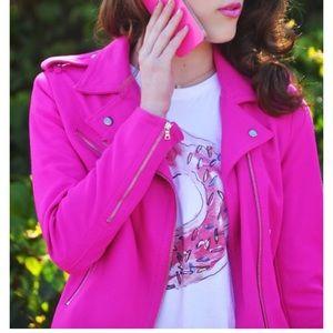 GAP Hot Pink Moto Jacket
